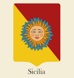 The symbol of the italian island of sicily vector