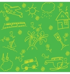 Travel holiday of doodle art vector