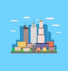 Urban landscape city vector