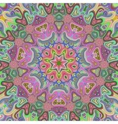 Vivid colored mandala background vector