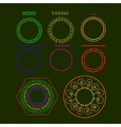 with set of circle elements vector image