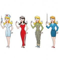 Women-professionals vector