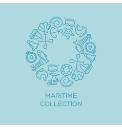 Maritime collection background vector