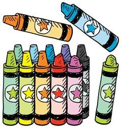 Doodle crayons vector