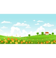 Sunny day landscape vector image