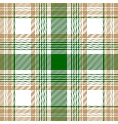 Green beige white check plaid seamless pattern vector