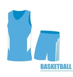 Isolated basketball uniform vector