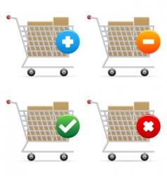 shopping carts icons vector image