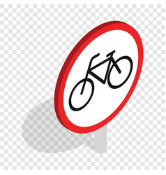bicycle sign isometric icon vector image