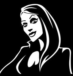 Cartoon black witch vector