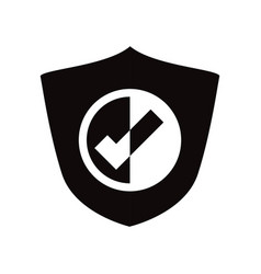 Antivirus shield sign vector