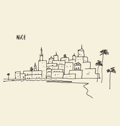 Sketch nice view hand drawn vector