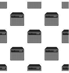 Guitar amplifier icon in black style isolated on vector