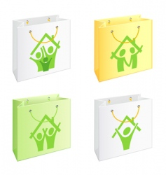 Bags with pictograms vector