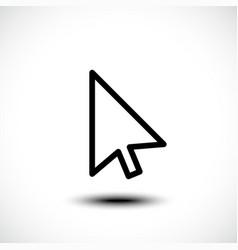 Computer mouse click pointer cursor arrow vector