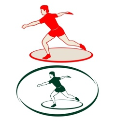 Athletics discus throwing-1 vector
