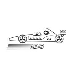 Symbol of a racing car formula 1 vector image