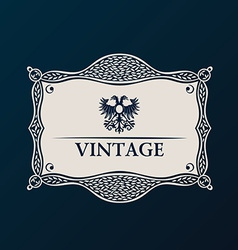 Label framework vintage tag decor vector