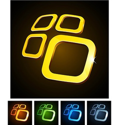 3d vibrant emblems vector image vector image