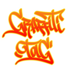 Graffiti tag vector