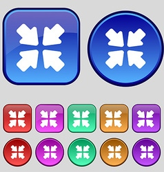 Turn to full screen icon sign a set of twelve vector