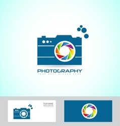 Photography camera logo vector