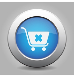 Blue button - shopping cart cancel vector