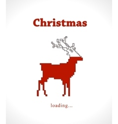 Christmas reindeer progress loading bar vector