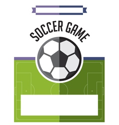 Soccer football game flyer vector