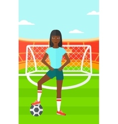 Football player with ball vector