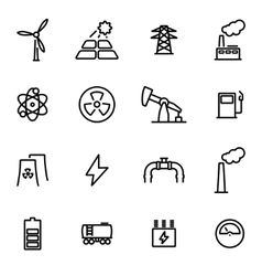 Thin line icons - vector