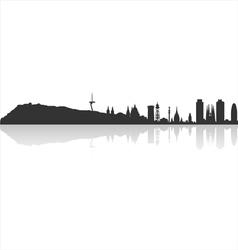 Barcelona profile vector