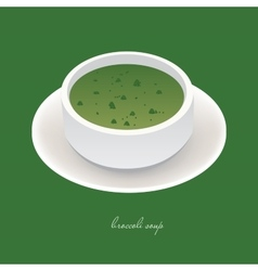 broccoli soup vector image vector image