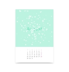 Calendar page for august 2016 vector