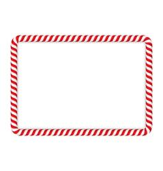 Candy cane frame vector
