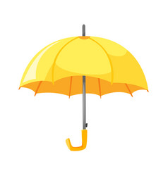 cartoon style of yellow umbrella vector image vector image