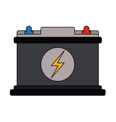 Color graphic car battery icon vector
