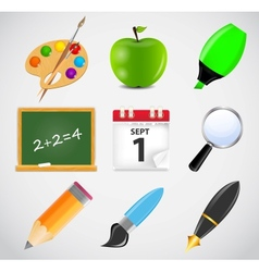 Different school icon set1 vector image
