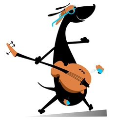 Dog is playing guitar vector image
