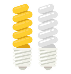 energy saving light bulb icon flat style vector image