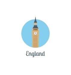England landmark isolated round icon vector image vector image