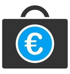 Euro bookkeeping icon vector