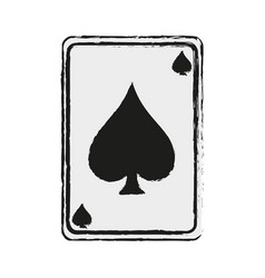 game card spades icon image vector image vector image