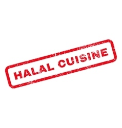 Halal cuisine text rubber stamp vector