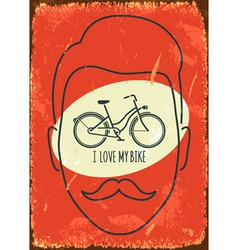 I love my bike vector image