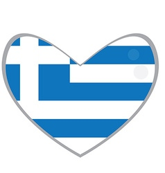 Isolated Greek flag vector image vector image