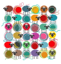 Knitting Yarn Balls vector image