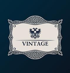 Label framework Vintage tag decor vector image vector image