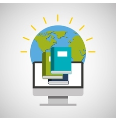 Library education online global vector