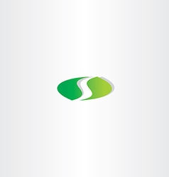 logotype green letter s logo icon design vector image vector image